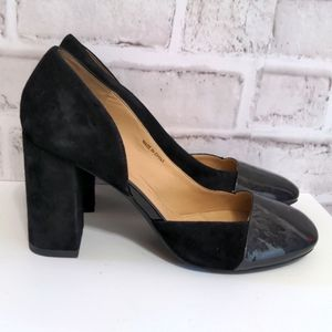 Geox Respira Suede Pumps Size 37.5 Capped Toe